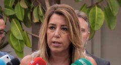 Susana Díaz durante su visita institucional al municipio de San Juan del Puerto.