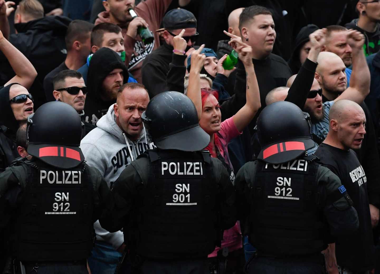 Ultraderechistas en Chemnitz