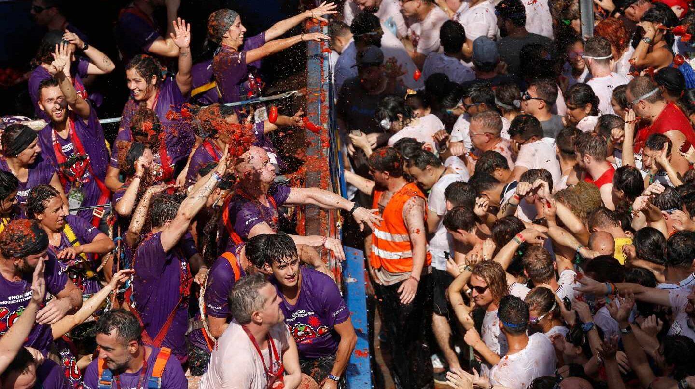 Fiesta de la Tomatina en Buñol.