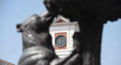 El reloj de la Puerta del Sol de Madrid.