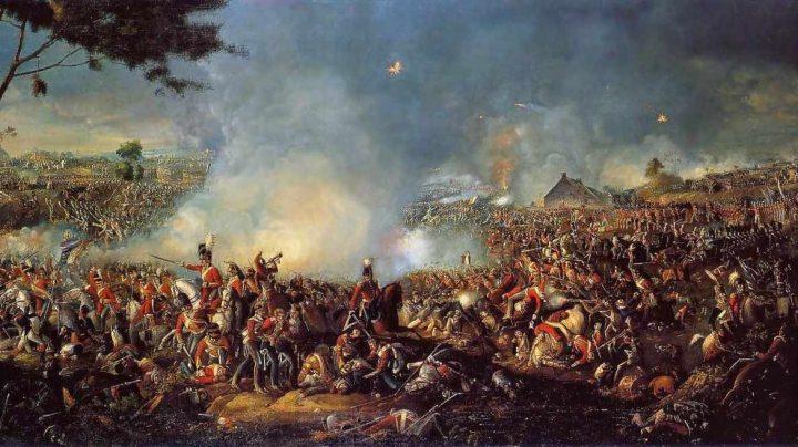 La Batalla de Waterloo, óleo de William Sadler.