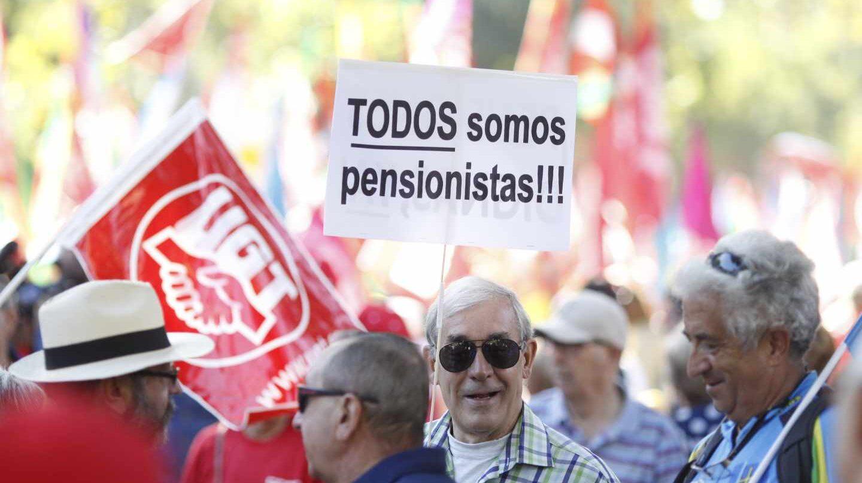 Marcha de pensionistas en Madrid.