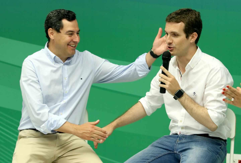 Juan Manuel Moreno y Pablo Casado