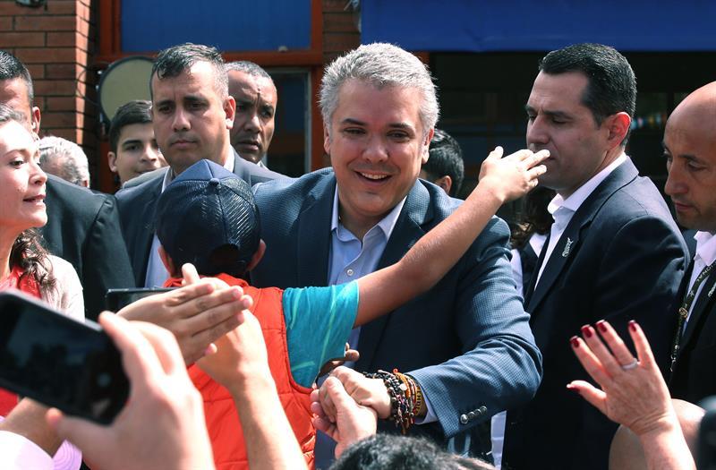 Iván Duque, en la ceremonia de investidura como presidente de Colombia.