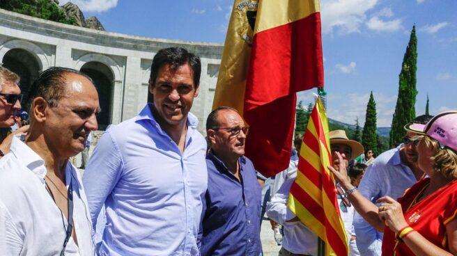 Luis Alfonso de Borbón, el pasado 15 de julio en un acto contra la exhumación del cadáver de su bisabuelo en el Valle de los Caídos.