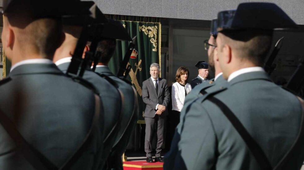 El ministro Grande-Marlaska, en la toma de posesión de Félix Azón como director general de la Guardia Civil.