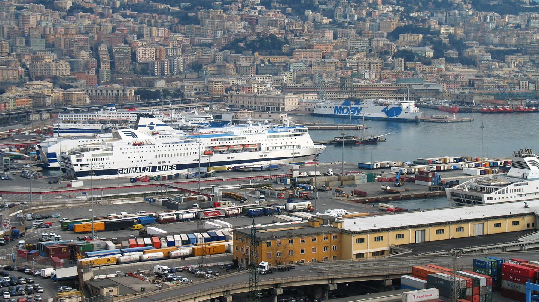 El puerto de Génova