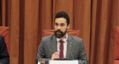 Roger Torrent preside la Mesa del Parlament.