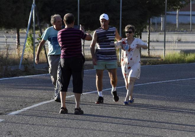 El etarra Santi Potros, a su salida de la cárcel de Topas, en Salamanca.