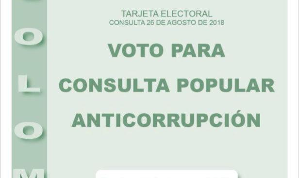 Tarjeta Anticorrupción Colombia