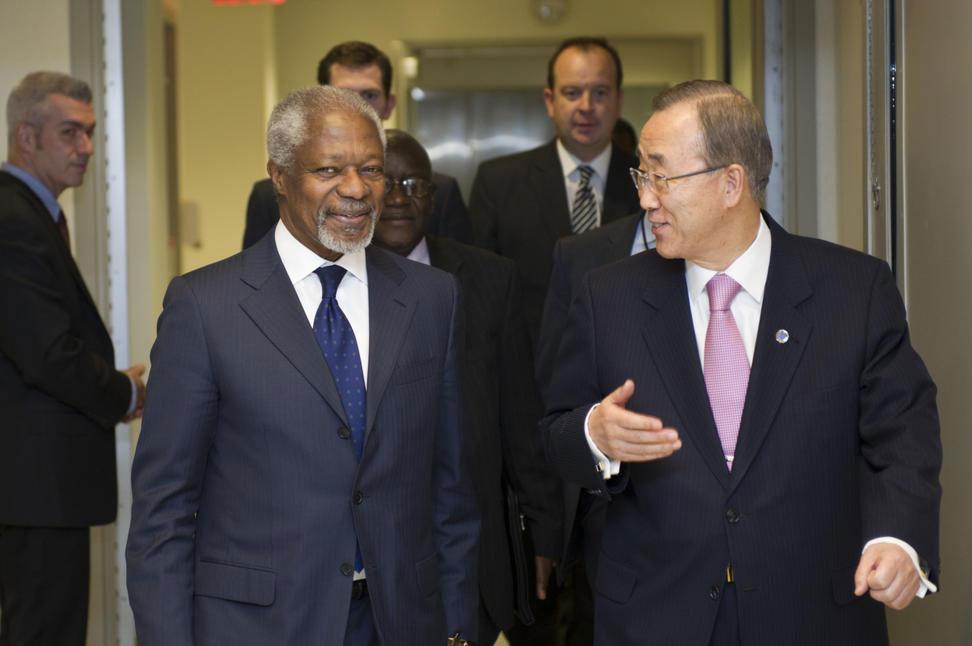 Kofi Annan Y Ban Ki Moon.