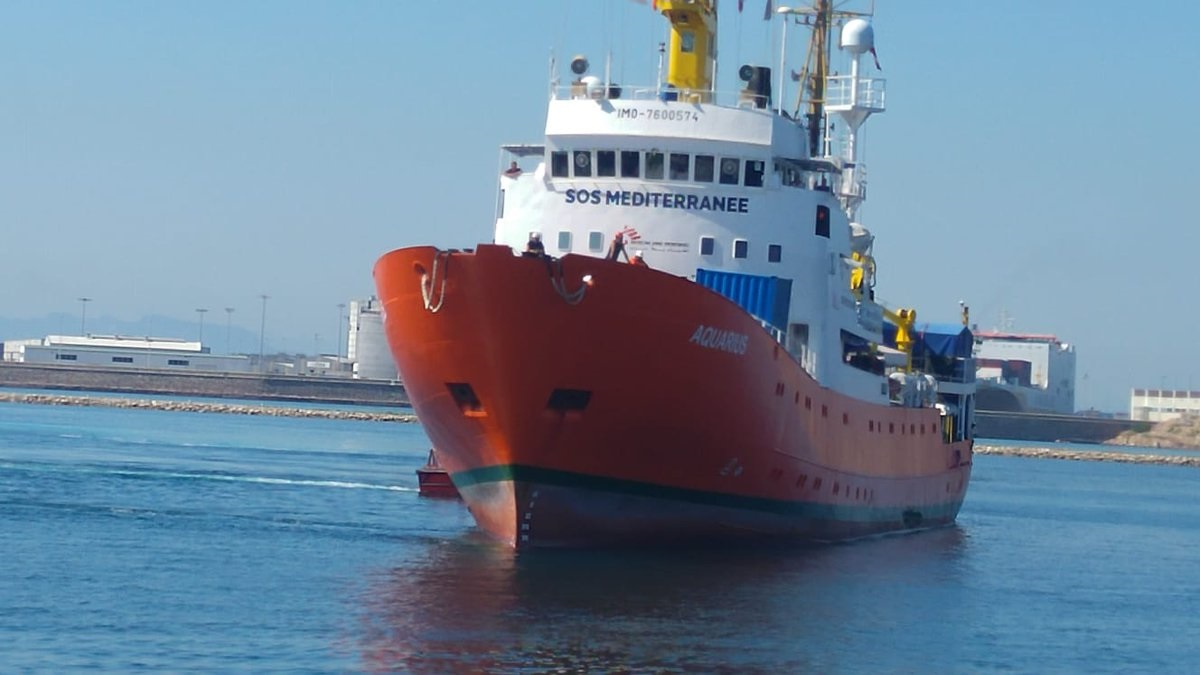 El buque Aquarius.