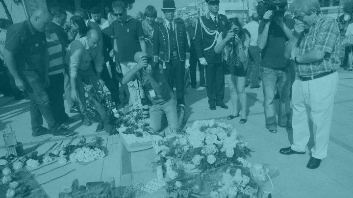 El acto de homenaje este sábado en Cambrils.