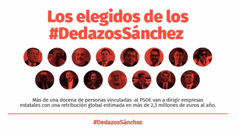 Campaña de Ciudadanos #dedazosSanchez