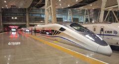 Modelo de la alta velocidad china, 'Qingdao', presentado en 2015 por la compañía estatal CRH.