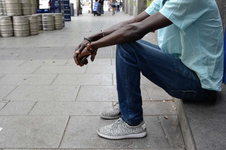 Imagen de un inmigrante en España.
