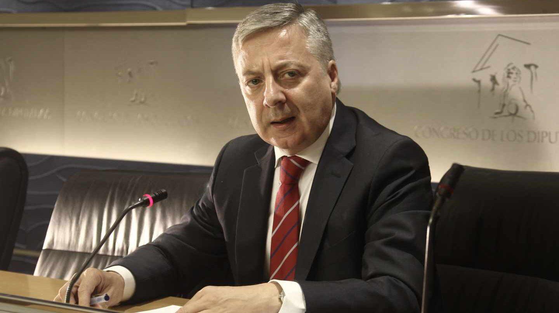 El ex ministro José Blanco en su comparecencia tras archivarse la causa en el Supremo, el 18 de julio de 2013.