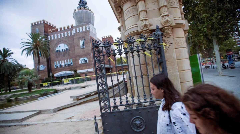 Paseo Pujades de Barcelona donde una mujer ha sido agredida cuando retiraba lazos amarillos.