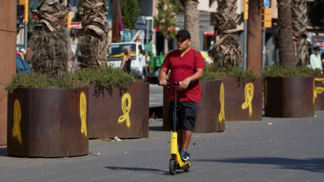 Lazos amarillos en Barcelona.