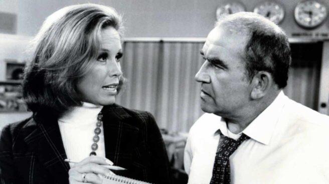 Mary Tyler Moore y Ed Asner, protagonista de Lou Grant