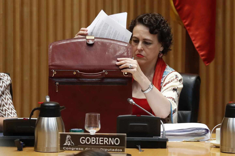 Magdalena Valerio, en el Congreso.