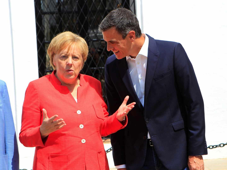 Pedro Sánchez y Angela Merkel, en Sanlúcar de Barrameda.
