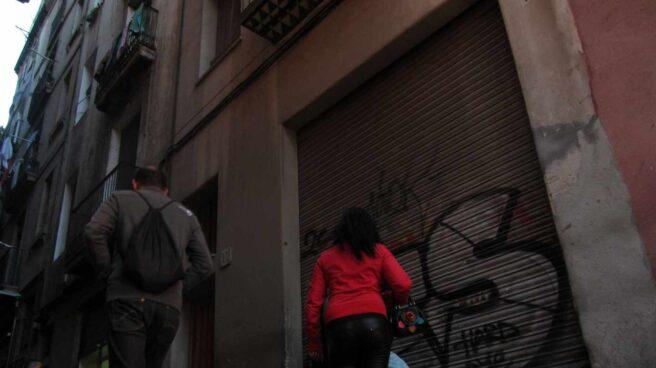 Una prostituta en Barcelona.