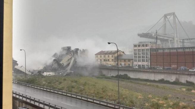 Derrumbe de un puente en Génova (Italia)