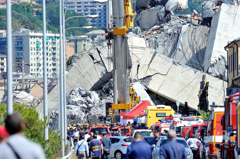 Suspendidas las labores de búsqueda por temor al desplome de otro pilar del puente de Génova