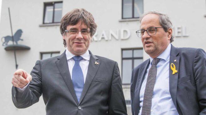 Carles Puigdemont y Quim Torra, en Waterloo.