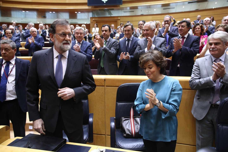 Mariano Rajoy, en el Senado tras la aprobación del artículo 155.