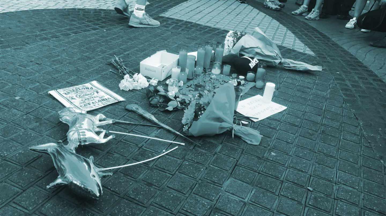 Homenaje a las víctimas del 17A.