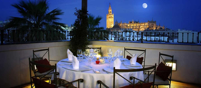 Restaurante El Mirador, en Sevilla.
