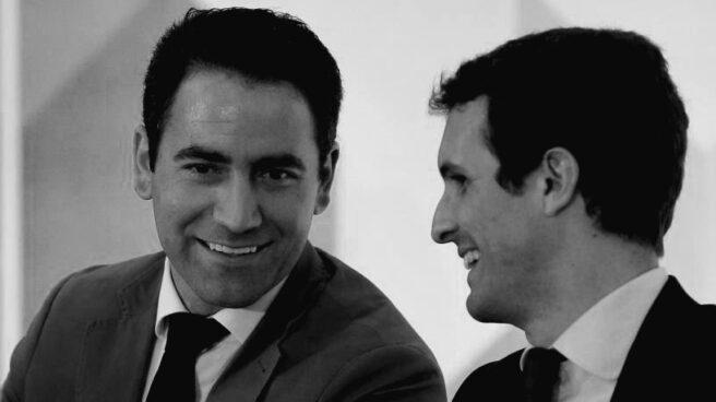 Teodoro García Egea y Pablo Casado.