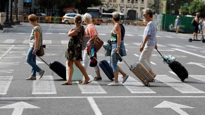 Turistas en la ciudad de Valencia.