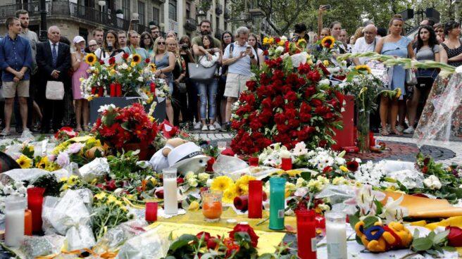 Memorial de las víctimas en Barcelona.