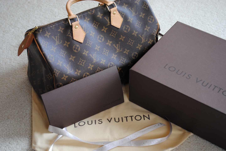 Productos de la marca de lujo Louis Vuitton.