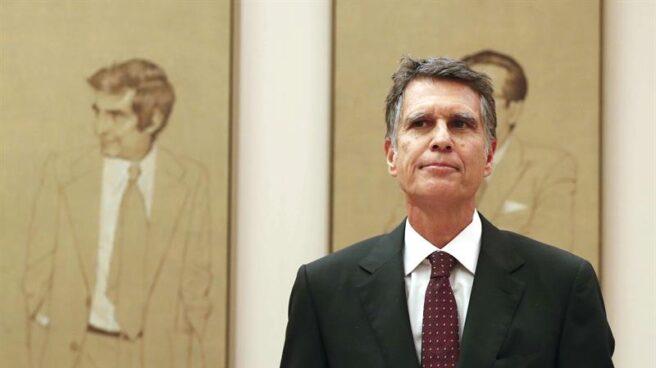 El consejero delegado del Banco Sabadell, Jaume Guardiola, durante su comparecencia en la Comisión del Congreso que investiga la crisis financiera y el rescate de la banca.