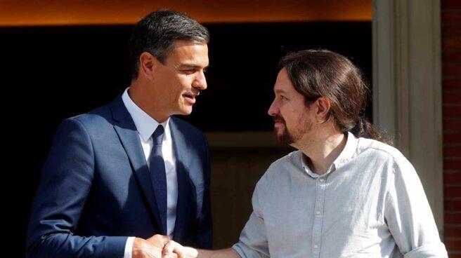 Pedro Sánchez y Pablo Iglesias, en la Moncloa.