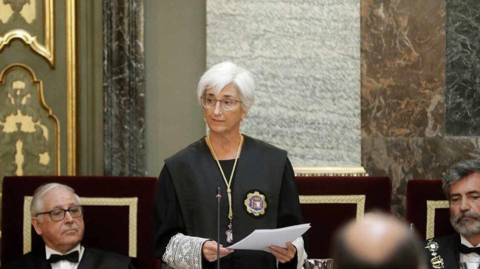 La fiscal general del Estado, María José Segarra, en la apertura del año judicial.