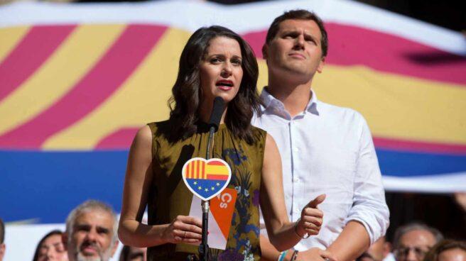 Inés Arrimadas y Pablo Casado, en la Diada.
