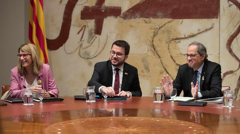 Artadi, Aragonés y Torra, en la Generalitat.