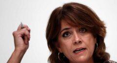 Dolores Delgado, ministra de Justicia, esta semana en el Club Siglo XXI de Madrid.