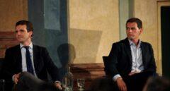 Pablo Casado y Albert Rivera en una imagen de archivo