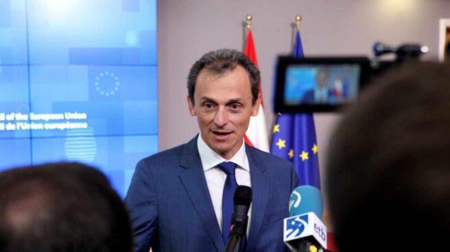 El ministro de Ciencia, Innovación y Universidades de España, Pedro Duque, en Bruselas.