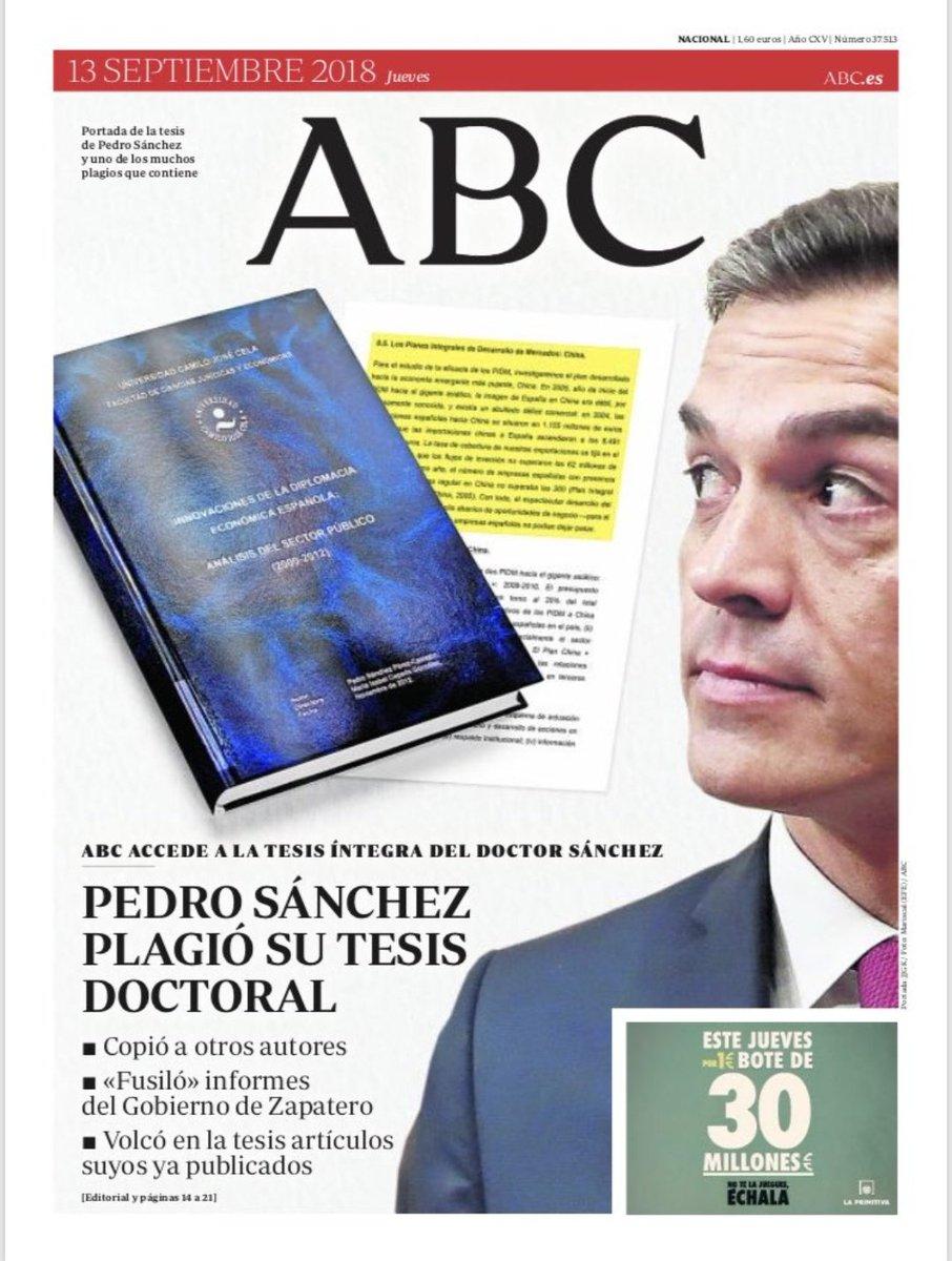Pedro Sánchez pide en un burofax a 'Abc', 'El Mundo' y 'okdiario' que se retracten