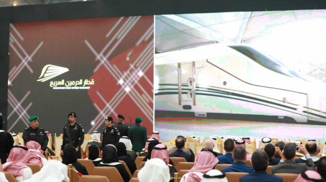 Acto preinaugural del AVE a La Meca con la presencia del Rey Salmán.