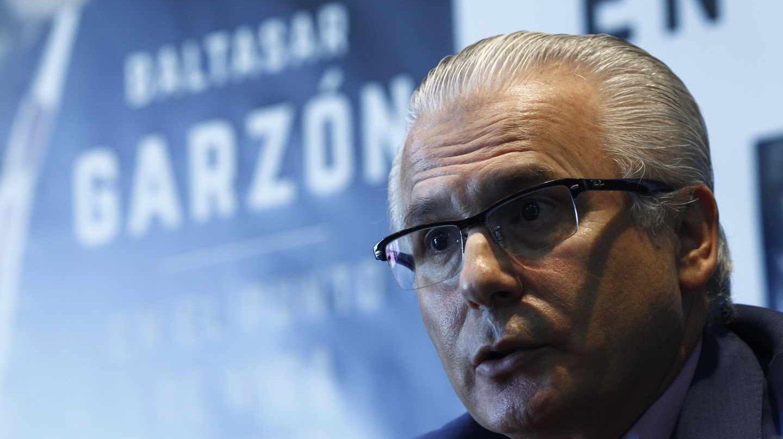 El ex juez Baltasar Garzón, en la presentación de uno de sus libros.