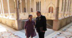 Teresa Cunillera y Quim Torra, el pasado 23 de julio en el Palacio de la Generalitat.