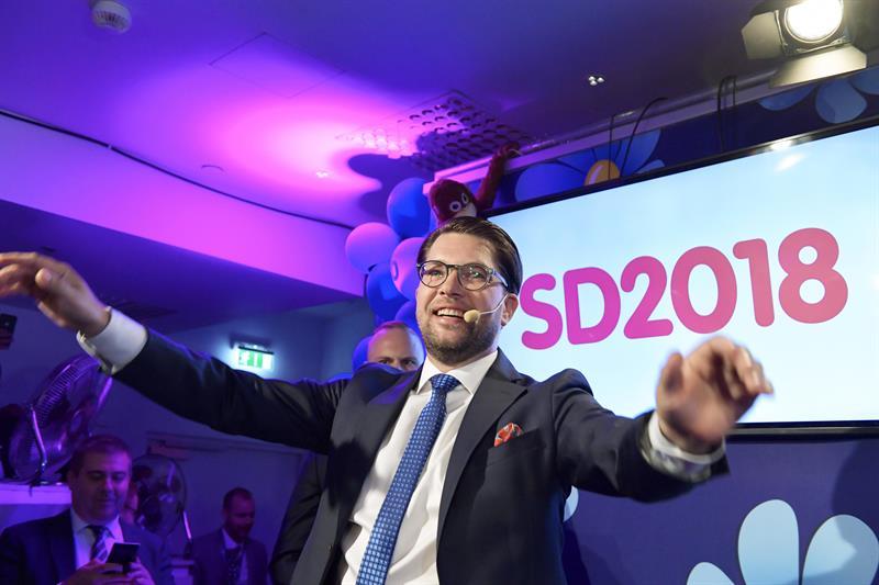 Jimmie Äkesson, líder de los Demócratas de Suecia, de ultraderecha.